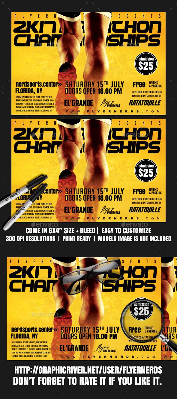 Marathon 2K17 Championships Sports Flyer - Concerts Events