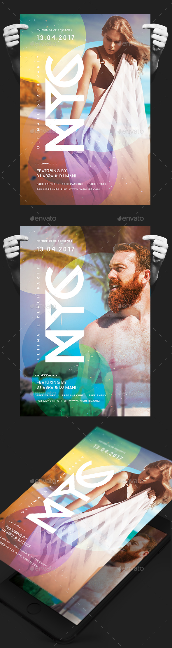 NYC Summer Party Flyer - Clubs & Parties Events