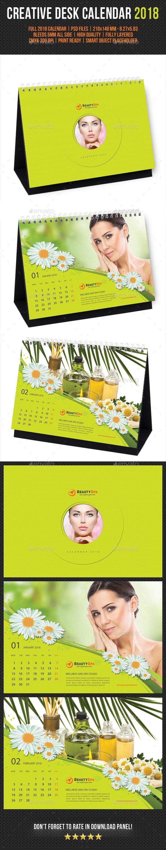 Creative Desk Calendar 2018 V09 - Calendars Stationery