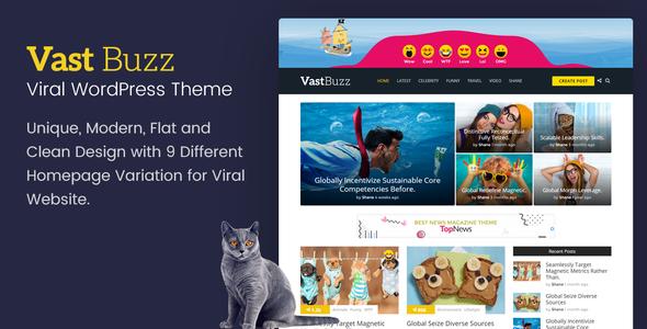 Vast Buzz - Viral & Buzz WordPress Theme - News / Editorial Blog / Magazine