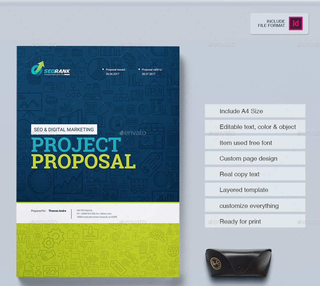 Project Proposal Template for SEO Search Engine Optimization – Project Cover Page Template