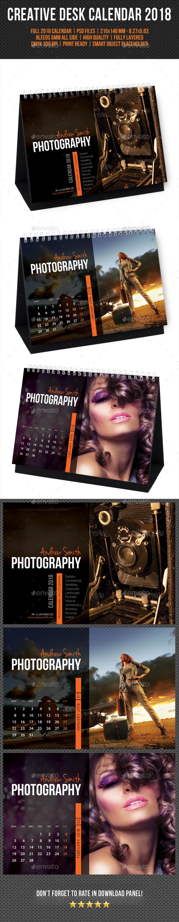 Creative Desk Calendar 2018 V10 - Calendars Stationery