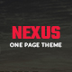 NEXUS_onepage PSD template - ThemeForest Item for Sale