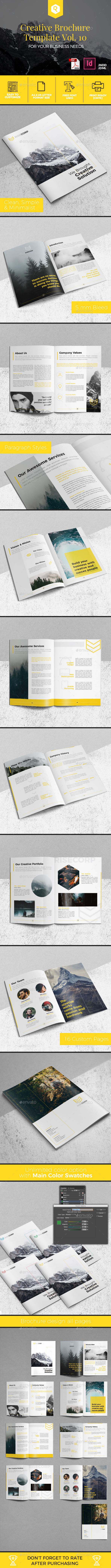 Creative Brochure Template Vol. 10