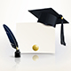 Diploma of Graduation with a Graduate Cap - GraphicRiver Item for Sale