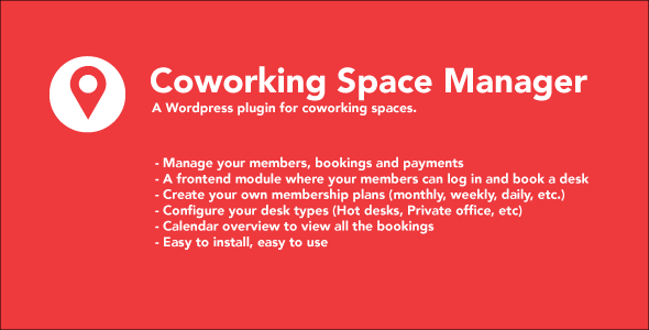 Coworking Space Manager - CodeCanyon Item for Sale