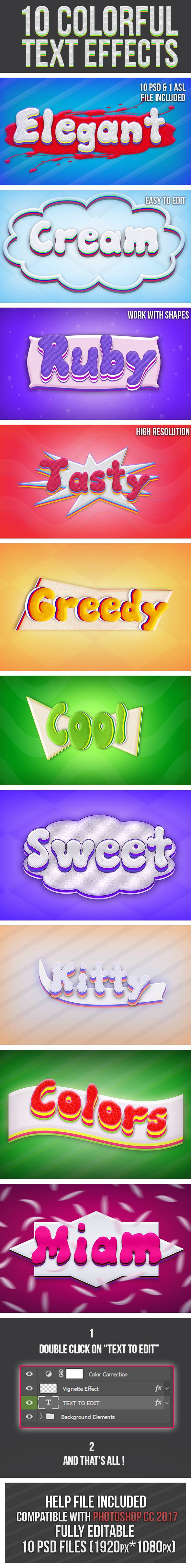 Colorful Text Effects 2 - Text Effects Styles