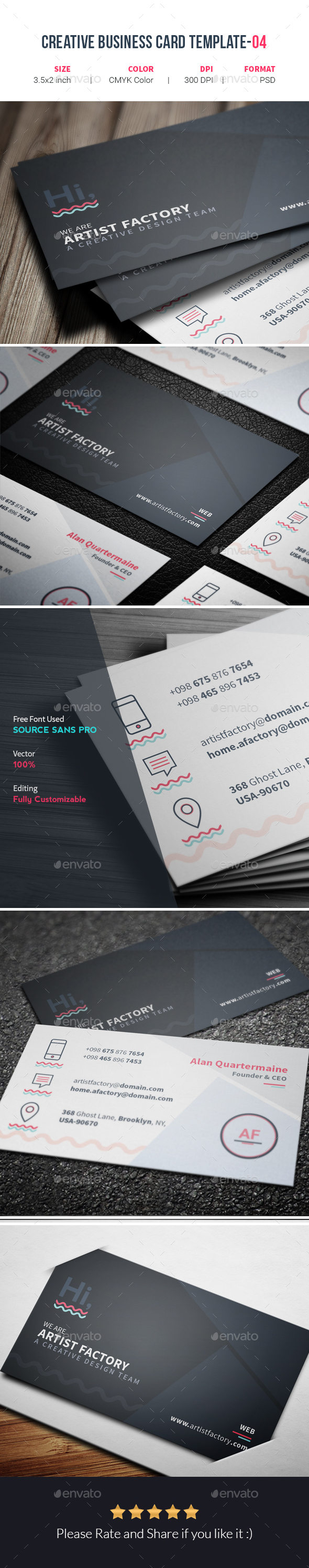 Creative Business Card Template-04 - Creative Business Cards