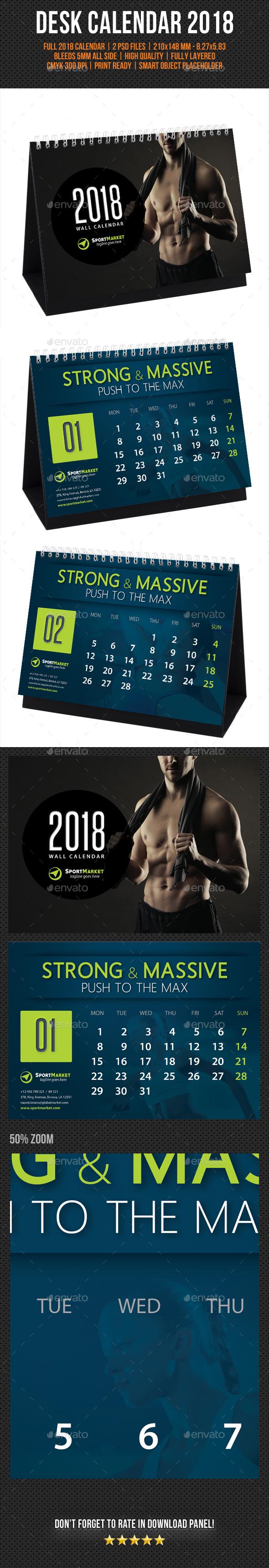 Creative Desk Calendar 2018 V14 - Calendars Stationery