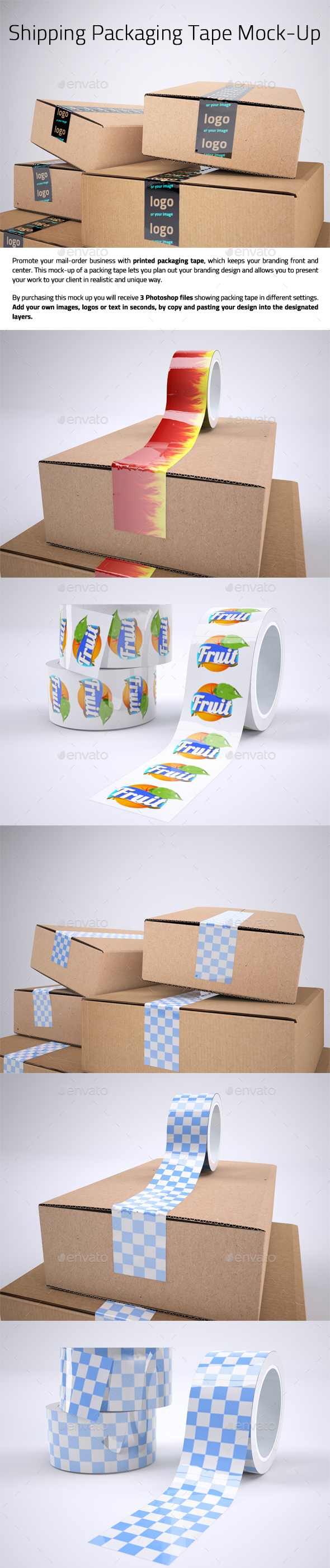Shipping Packaging Tape Mock-Up - Packaging Product Mock-Ups