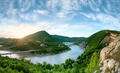 Panoramic view of the rock phenomenon Wonderful rocks (Bulgaria)