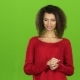 Woman Is Tired of Working with Virtual Program, Green Screen