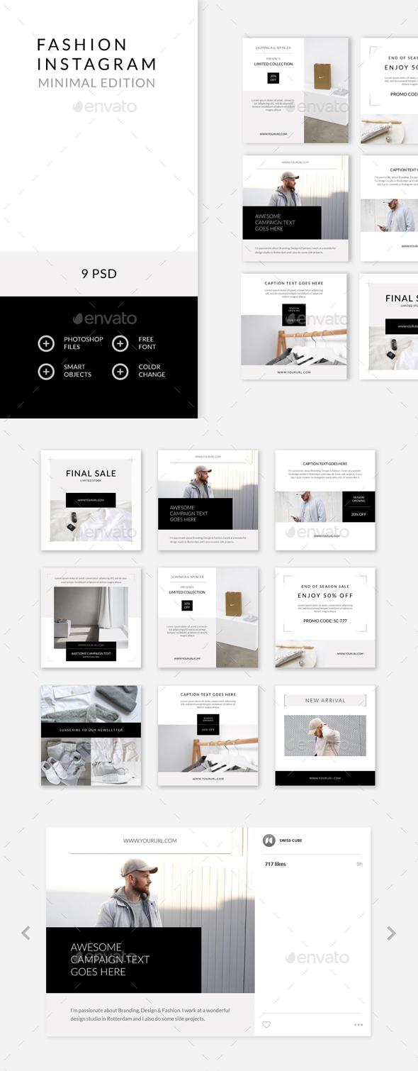 Fashion Instagram – Minimal Edition - Social Media Web Elements