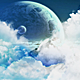 Flight Through the Blue Clouds to Mysterious Lands - VideoHive Item for Sale