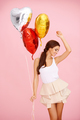 Dancing brunette with balloons - PhotoDune Item for Sale