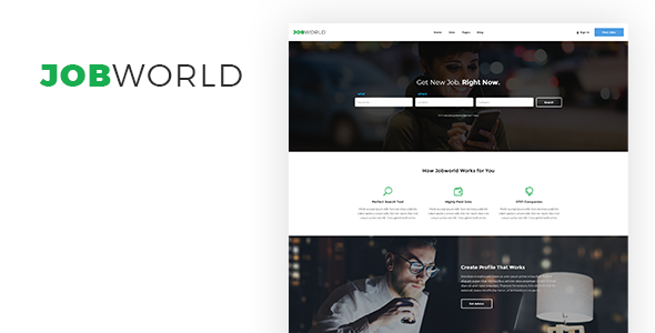 Job Portal Template | Job World - Business Corporate