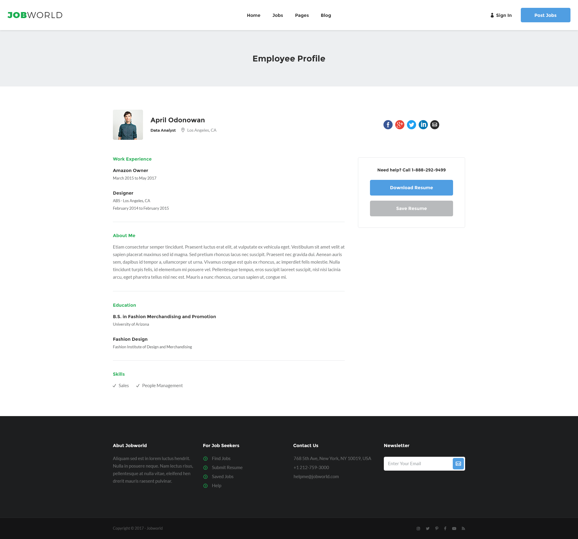 Job Portal Template | Job World by sanljiljan | ThemeForest