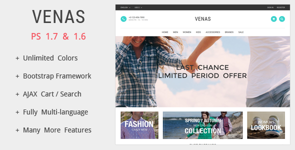 Venas - Prestashop Theme