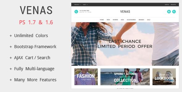 Venas - Prestashop Theme - PrestaShop eCommerce