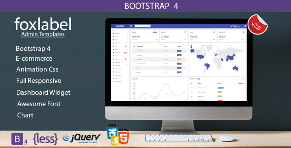 Foxlabel – Bootstrap 4 Admin Templates