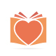 Vector Logo Combination Of a Heart And Book - GraphicRiver Item for Sale