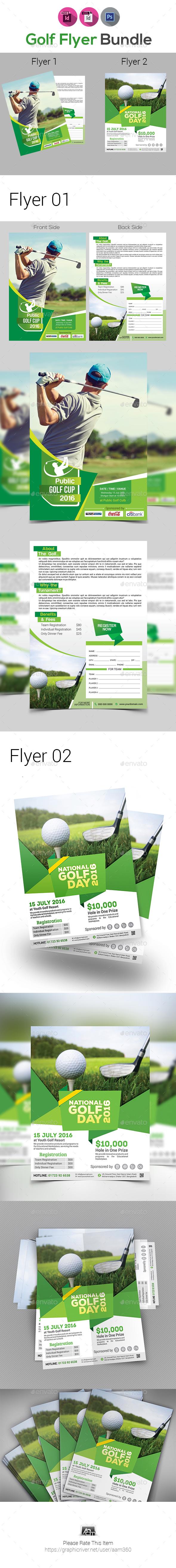 Golf Tournament Flyer Bundle - Sports Events