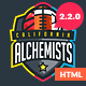 Alchemists - Basketball, Soccer, Football Sports Club and News HTML Template Nulled