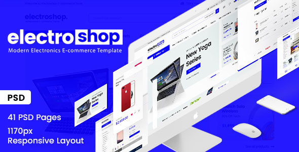 electroshop -Electronic E-commerce PSD Template