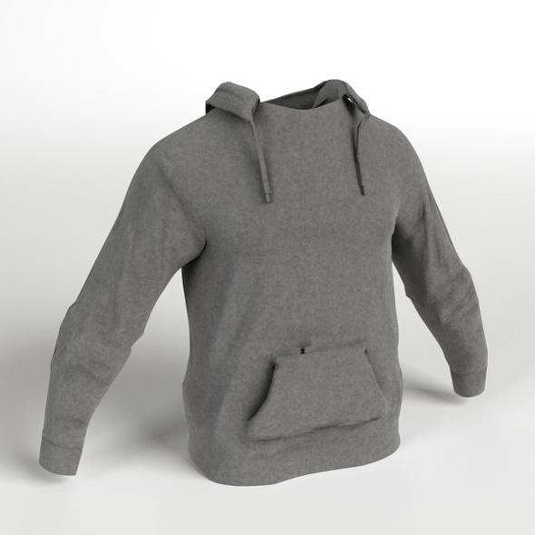 Hooded Sweater Sweatshirt - 3DOcean Item for Sale