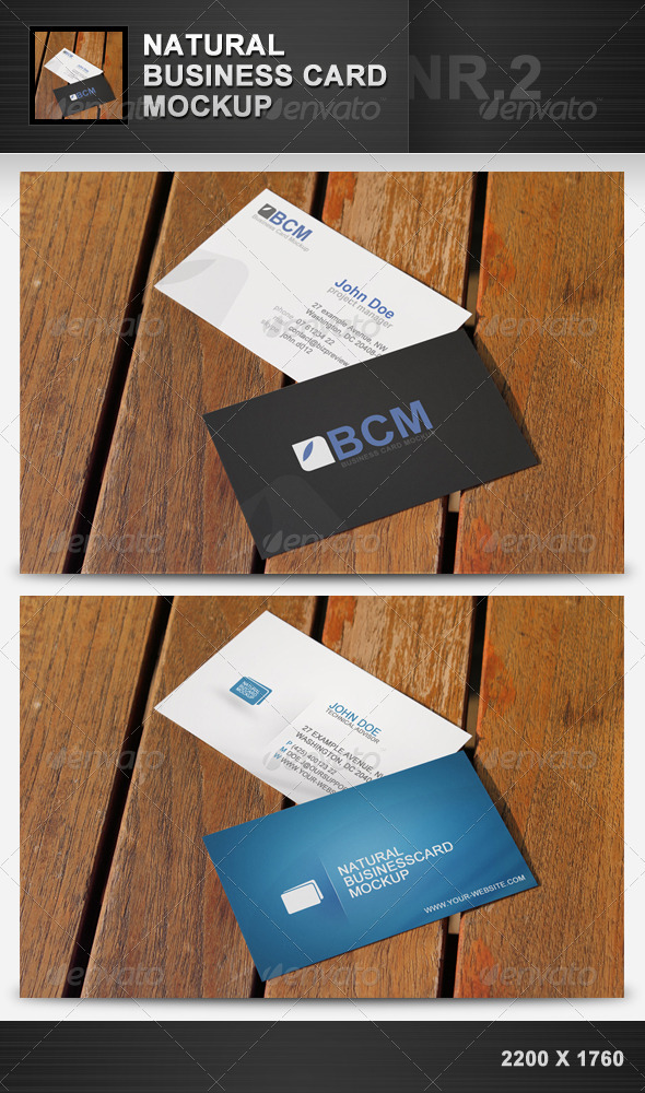 Natural Business Card Mockup 2 - Business Cards Print