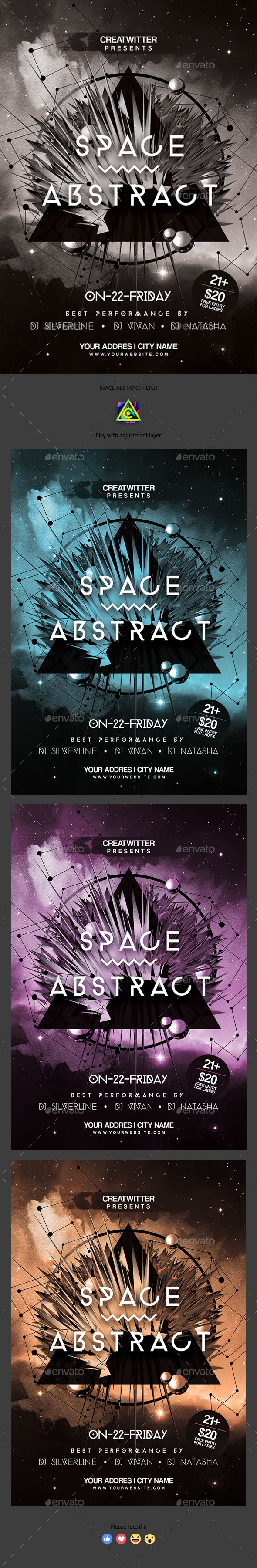 Space Abstract Flyer - Clubs & Parties Events