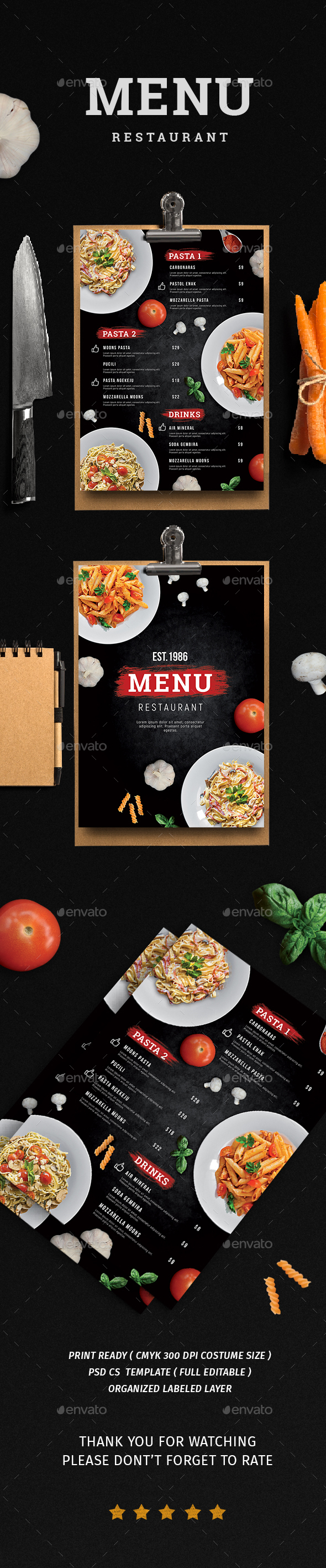 Menu Restaurant - Restaurant Flyers