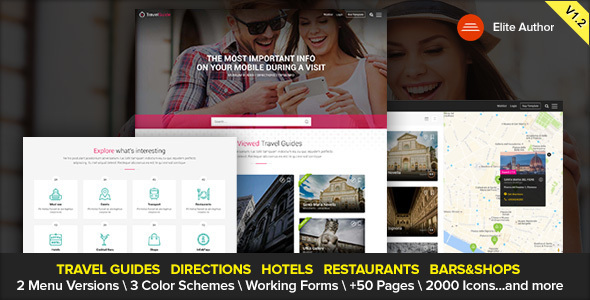 TRAVELGUIDE – Guides, Places and Directions WordPress Theme