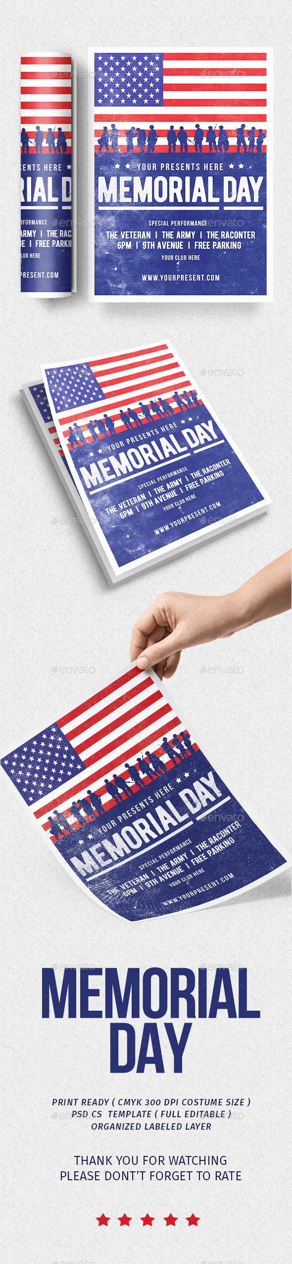 Memorial Day Flyer vol.2 - Flyers Print Templates