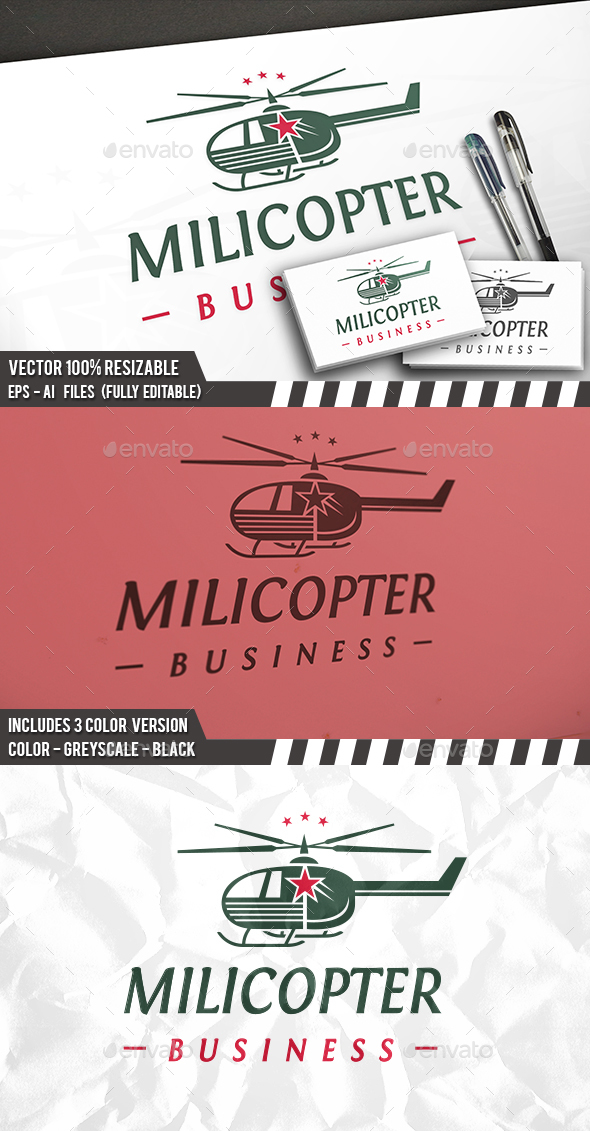 Helicopter Logo - Objects Logo Templates
