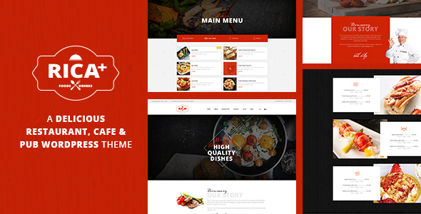 Rica Plus - A Delicious Restaurant, Cafe & Pub WP Theme - Restaurants & Cafes Entertainment