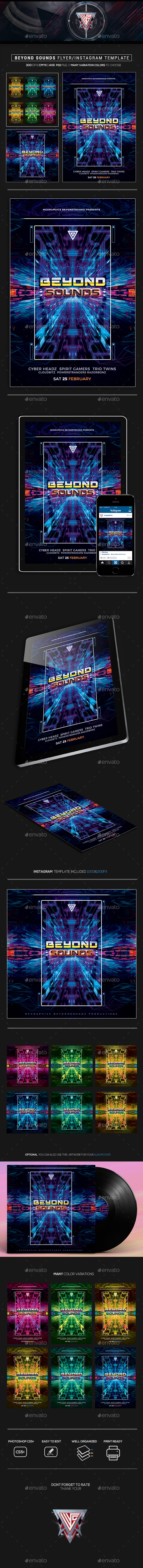 Beyond Sounds Flyer/Instagram Template - Events Flyers
