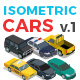 Vector Cars Set Isometric Flat Style v.1 - GraphicRiver Item for Sale