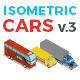 Vector Cars Set Isometric Flat Style v.3 - GraphicRiver Item for Sale