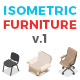 Vector Furniture Set Isometric Flat Style v.01 - GraphicRiver Item for Sale