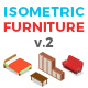 Vector Furniture Set Isometric Flat Style v.02 - GraphicRiver Item for Sale