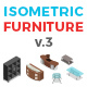 Vector Furniture Set Isometric Flat Style v.03 - GraphicRiver Item for Sale
