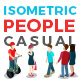 Vector Casual People Set Isometric Flat Style - GraphicRiver Item for Sale