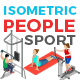 Vector Sport People Set Isometric Flat Style - GraphicRiver Item for Sale