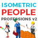 Vector Professions People Set Isometric Flat Style v.2 - GraphicRiver Item for Sale