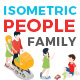 Vector Family People Set Isometric Flat Style - GraphicRiver Item for Sale