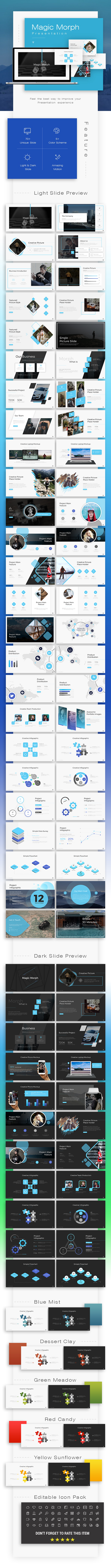 Magic Morph Powerpoint Template - Business PowerPoint Templates