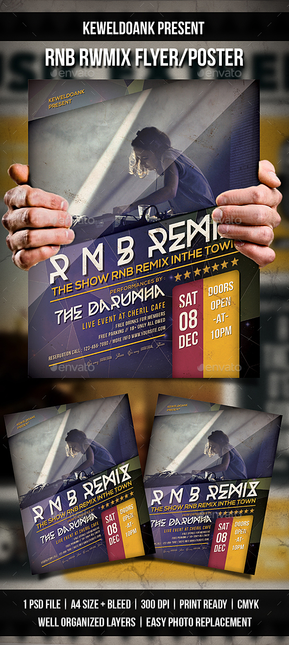 Rnb Remix Flyer / Poster - Clubs & Parties Events
