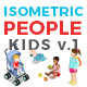 Isometric Flat Vector People Kids v1 - GraphicRiver Item for Sale