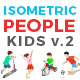 Isometric Flat Vector People Kids v2 - GraphicRiver Item for Sale